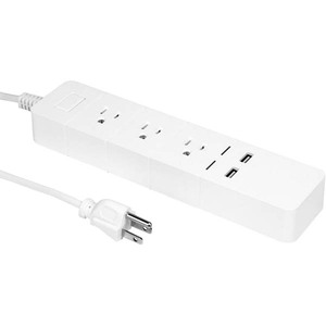 Aluratek 3-Outlet Surge Suppressor/Protector - Wi-Fi Controllable - Wi-Fi Controllable