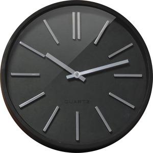 Orium Goma Clock ? 35cm - Analog - Quartz - Black Main Dial - Black/Acrylonitrile Butadiene Styrene (ABS) Case - Modern Style