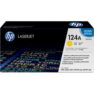 HP 124A (Q6002A) YELLOW ORIGINAL LASERJET TONER CARTRIDGE