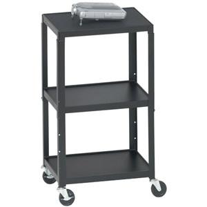 Bretford A2642 Height Adjustable A/V Cart - Black