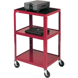 Bretford A2642-TZ Height Adjustable A/V Cart - 3 x Shelf(ves) - 42inHeight x 24inWidth x