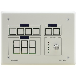 12-BUTTON MASTER ROOM CONTROLLER WITH DIGITAL VOLUME KNOB