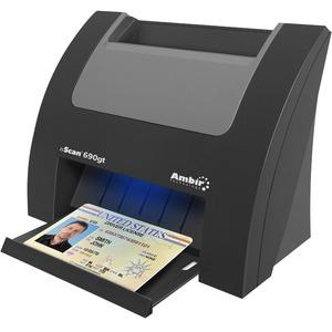 Ambir nScan 690gt - Duplex ID Card Scanner - 48-bit Color - 8-bit Grayscale - Duplex Scann