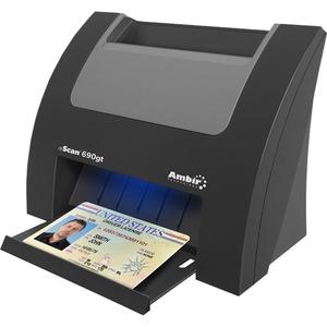 Ambir nScan 690gt Duplex ID Card Scanner w/AmbirScan for athenahealth - Duplex Scanning