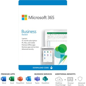 Microsoft 365 Business Standard - Subscription License - 1 Person - 1 Year - Electronic -