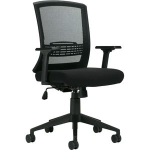 Offices To Go OTG13032 Chair   Black Fabric Seat   Black Back   24  Length x 24  Width   40  Height   1 Each
