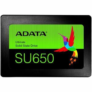 Adata Ultimate SU650 480 GB Solid State Drive - 2.5inInternal - SATA (SATA/600) - Black -