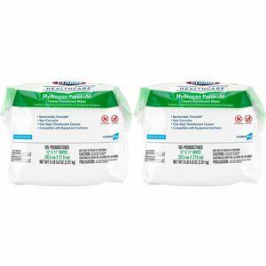 Clorox Healthcare Hydrogen Peroxide Disinfecting Wipes - Wipe - 185 - 2 /  Carton - White