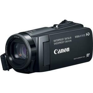 Canon VIXIA HF W10 Digital Camcorder - 3inLCD Touchscreen - CMOS - Full HD - 16:9 - 2.3 M