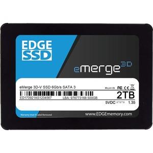 "EDGE eMerge 3D-V 2 TB Solid State Drive - 2.5"" Internal - SATA (SATA/600) - TAA Compliant"