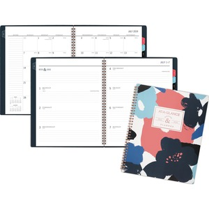 At-A-Glance Badge Floral Academic Planner - Academic - Yes - Weekly, Monthly - 1.1 Year - July till July - 1 Week, 1 Month Double Page Layout - Navy, Denim, Floral, White, Coral - Poly - Day Indicator, Bleed Resistant Paper, Notes Area, To-do List, Ruled
