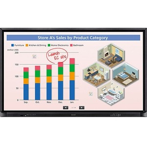 Sharp AQUOS BOARD PN-CE701H Interactive Whiteboard - 70in- Touch-on - Infrared - 4 Users