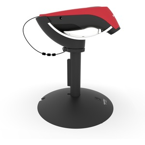 2D BARCODE SCANNER WITH CHARGING STAND.