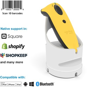 1D COLORFUL SCANNER WITH CHARGING DOCK.