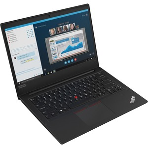 "Lenovo ThinkPad E495 20NE0003US 14"" Notebook - 1366 x 768 - Ryzen 3 3200U - 4 GB RAM - 500 GB HDD - Glossy Black"