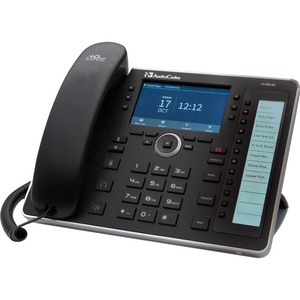 AudioCodes 445HD IP Phone - Corded - Corded - Black - 6 x Total Line - VoIP - Caller ID -