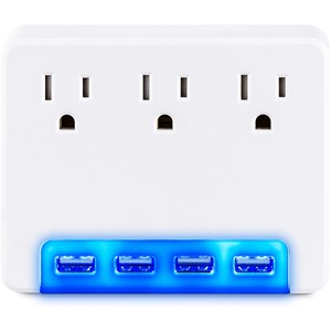 3 AC OUTLET WALL TAP 125V