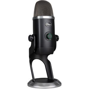 Blue Yeti X Microphone - Stereo - 20 Hz to 20 kHz - Wired - Condenser - Cardioid-Bi-direct