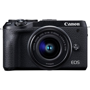 Canon EOS M6 Mark II 32.5 Megapixel Mirrorless Camera with Lens - 15 mm - 45 mm - Black -