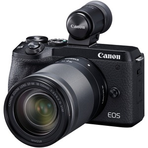 Canon EOS M6 Mark II 32.5 Megapixel Mirrorless Camera with Lens - 18 mm - 150 mm - Black -