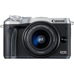 Canon EOS M6 Mark II 32.5 Megapixel Mirrorless Camera with Lens - 15 mm - 45 mm - Silver