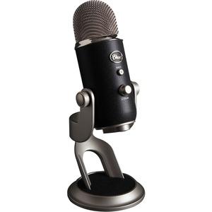 Blue Yeti Pro Microphone - Stereo - 20 Hz to 20 kHz - Wired - Condenser - Cardioid-Bi-dire