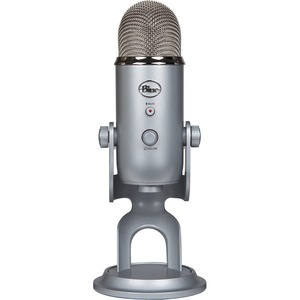 Blue Yeti Microphone - Stereo - 20 Hz to 20 kHz - Wired - Condenser - Cardioid-Bi-directio
