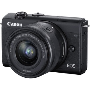 Canon EOS M200 24.1 Megapixel Mirrorless Camera with Lens - 15 mm - 45 mm - Black - Autofo
