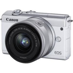 Canon EOS M200 24.1 Megapixel Mirrorless Camera with Lens - 15 mm - 45 mm - White - Autofo