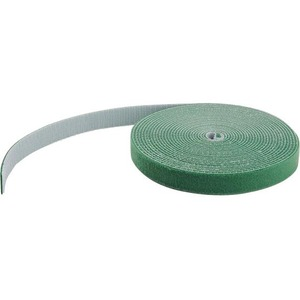 100FT BULK ROLL OF GREEN HOOK AND LOOP TAPE 3/4IN (19MM) WIDE - CUT TO NEEDED LE