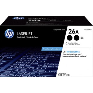 HP 26A 2-PACK BLACK ORIGINAL LASERJET TONER CARTRIDGES CF226AD1