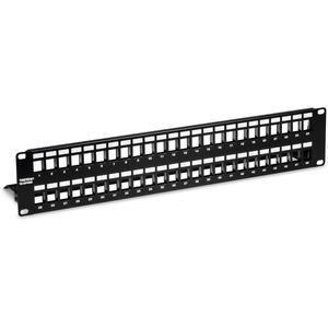TRENDnet 48-Port Blank Keystone Shielded 2U HD Patch Panel-TC-KP48S-2U 19inMetal Rackmoun