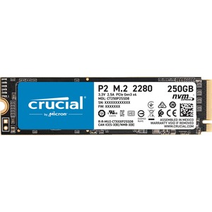 Crucial P2 CT250P2SSD8 250 GB Solid State Drive - M.2 2280 Internal - PCI Express NVMe (PC