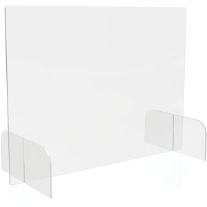 Deflecto Countertop Safety Barrier Full Shield with Feet