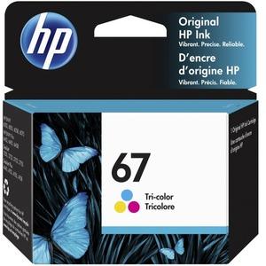HP 67 TRI-COLOR ORIGINAL INK CARTRIDGE.CINSISTS OF 1 3YM55A TRI-COLOR CARTRIDGE.