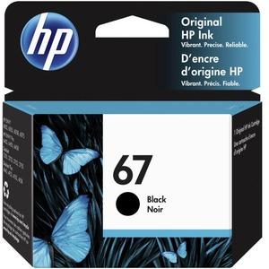 HP 67 BLACK ORIGINAL INK CARTRIDGE.CONSISTS OF 1 3YM56A BLACK CARTRIDGE.MADE IN