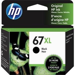 HP 67XL BLACK ORIGINAL INK CARTRIDGE.CONSISTS OF 1 3YM57A XL BLACK CARTRIDGE.MAD