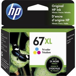 HP 67XL TRI-COLOR ORIGINAL INK CARTRIDGE.CONSISTS OF 1 3YM58A XL TRI-COLOR CARTR
