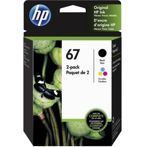 HP 67 HP 67 CLR/BLK ORIGINAL INK CRTG 2-PK .CONSISTS OF 1 3YM55A; 1 3YM56A CARTR
