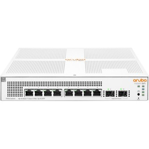Aruba Instant On 1930 8G Class4 PoE 2SFP 124W Switch - 8 Ports - Manageable - 4 Layer Supp