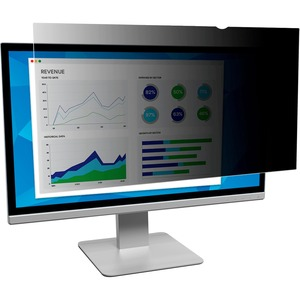 3M Black Privacy Filter for 21.5 in Full Screen Monitors Black-Transparent-Matte - For 21.