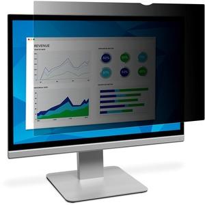 3M Black Privacy Filter for 23 in Full Screen Monitor Black, Transparent, Matte