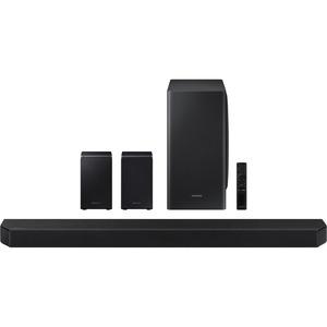 Samsung HW-Q950T 9.1.4 Bluetooth Smart Speaker - Alexa Supported - Black - Wall Mountable