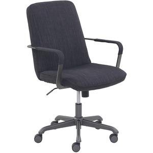 Lorell Dark Gray Multipurpose Chair - Dark Gray Fabric Seat - Dark Gray Fabric Back - 5-star Base - 1 Each