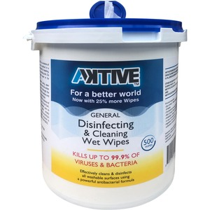 Aktive General Disinfecting & Cleaning Wet Wipes