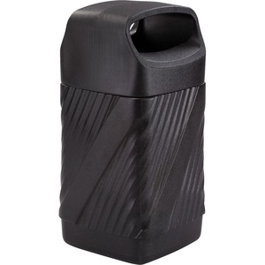 Safco Twist Waste Receptacle - 32 gal Capacity - Removable Lid, Durable, UV Resistant, Fade Resistant - 38