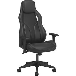 HON Ryder Executive Chair - Synchro-Tilt - Black - Leatherette, Carbon Fiber - 1 Each