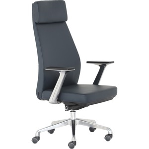 StyleWorks NYC Highback Executive Chair - Charcoal Vinyl, Foam Seat - Charcoal Vinyl Back - High Back - 5-star Base - Charcoal - Yes - 1 Each