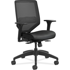 HON Solve Mid-Back Task Chair - Ink Fabric Seat - Black Back - Black Frame - Mid Back - Yes - 1 Each