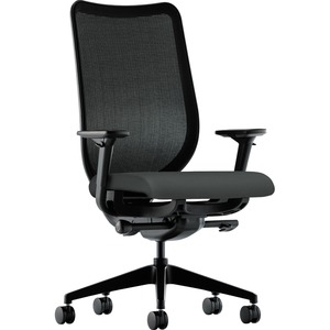 HON Nucleus Knit Mesh Back Task Chair - Iron Ore - Yes - 1 Each
